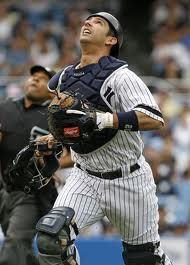 Jorge Posada...my all time favorite Yankee. He was such a class act as well as an amazing catcher who hit very well. In one game in 2010 he hit a HR right handed...next at bat he hit a HR left handed. THAT is exceptional quality. I miss him!