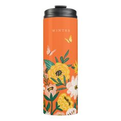 Shop Pretty Yellow Sunflower Wildflowers & Butterflies Thermal Tumbler created by moodthology. Sunflower Garden, Yellow Sunflower, Bad Godesberg, Classic Blankets, Yellow Wildflowers, Gardening For Beginners, Gardening Hacks, Succulent Gifts, Custom Tumblers