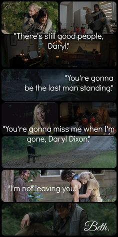 They would be a cute couple, but Beth needs to quite flirting with Daryl, because Daryl is going to get together with Carol!
