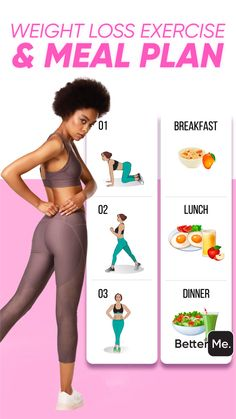 BetterMe: Home Workout & Diet Meal Plans To Lose Weight, Lose Weight In A Month, Lose Weight Quick, Weight Loss Plans, Weight Loss Transformation, Home Exercise Program, Workout Programs, Get Ripped Fast, Workout Results