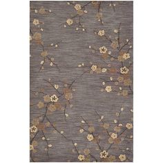 Hand-tufted Grey Rug (2' x 3')