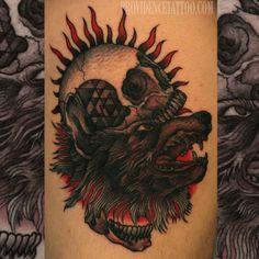 done by Dennis M Del Prete #wolf #tattoo #providencetattoo