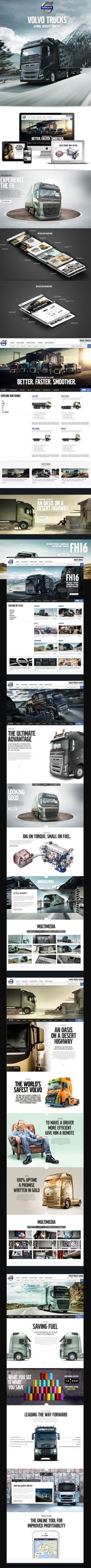 Volvo Truck Redesign  http://www.behance.net/gallery/Volvo-Trucks-Global-Website/13097021