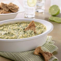 Lightened-Up Warm Artichoke & Spinach Dip