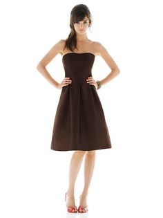 Bridesmaid dress, but will add cream colored sash with accent floewer