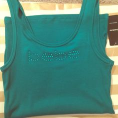 Brand New bebe logo tank- low price Teal bebe logo tank, brand new!!!! Low price bebe Tops Tank Tops