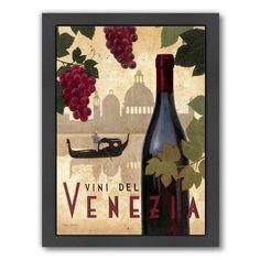 "East Urban Home Vine Del Vinezia by Marco Fabiano Framed Vintage Advertisement Size: 16.5"" H x 13.5"" W x 1.5"" D"