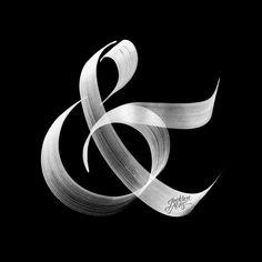 Ampersand Tattoo, Ampersand Sign, Types Of Lettering, Brush Lettering, Lettering Design, White Acrylic Paint, White Acrylics, Flat Brush, Illuminated Letters