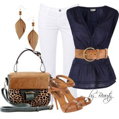Belted Navy Tunic :)