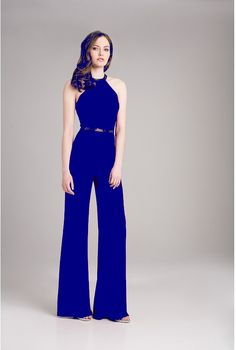 a259c071643b0 AUTOUR D'UN SOIR. Combinaison pantalon élégante de soirée, ceinture strass  ...