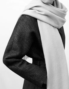 Minimalist Coat & Scarf - chic minimal fashion, understated style // COS