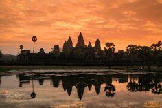 Sunrise of Angkorwat  by hawrim