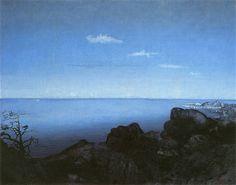 Andante by Harald Oskar Sohlberg, 1908 Japanese Landscape, Sun And Stars, Nocturne, Landscape Paintings, Landscapes, Denmark, Norway, Sky, Artwork