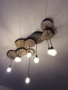 wooden Edison lighting for the family room or kitchen - very interesting and engaging design