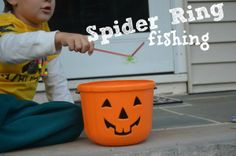 Several halloween games to try with your kids - ghost bowling, spider ring fishing, and halloween map. » The Pleasantest Thing