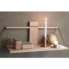 ANDERSEN Wood vegghylle  60x25xH32 cm Eik