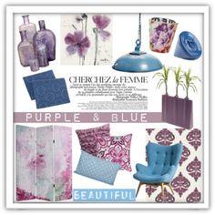 Purple & Blue Decor