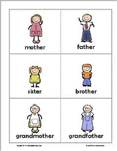 family members flashcards - Buscar con Google