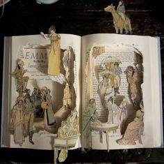 Altered Book - Jane Austen - Emma - Book Sculpture