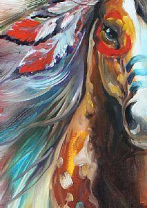 Detail Image for art HIGH PLAINS INDIAN WAR HORSE