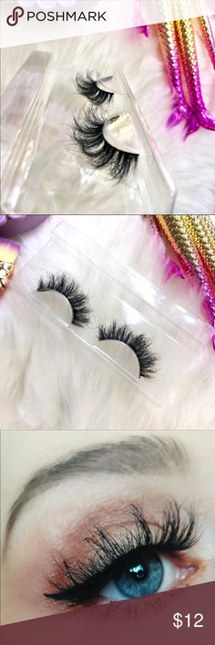Jenny Mink Lashes New. Mink Fur Lashes. Super soft and has a nice curl.    Bundle and save!   Any questions please ask! Makeup False Eyelashes