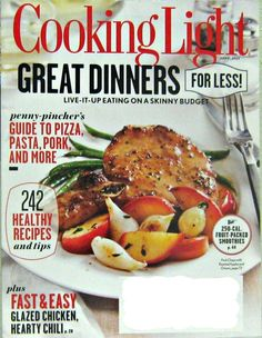 Cooking Light Magazine, Great Dinner Recipes For Less, Sept 2012 Vol.26 No.8