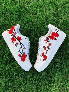 Cherry Blossom Nike Air Force Nike Shoes, Custom Sneakers, Cherry Blossom, Nike All Nike shoes are authentic and brand new with tags! All Nike Shoes, Hype Shoes, Running Shoes, Nike Custom Shoes, Customised Shoes, Mens Running, Jordan Shoes Girls, Girls Shoes, Baby Shoes