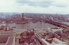 View to Bankside power station (now the Tate Modern) 1973