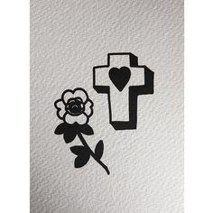 ☁️🍌 fidjit.m@gmail.com #tattoo #london #cross #rose
