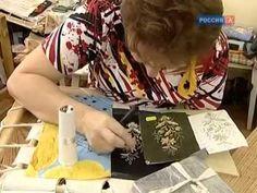 Как делают вышивку золотом. Золотая вышивка - YouTube