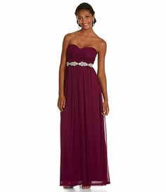 Jodi Kristopher Strapless Beaded Gown from Dillards Homecoming 2013 Collection