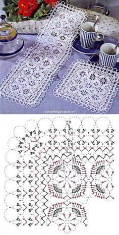 Patterns and motifs: Crocheted motif no. Crochet Table Topper, Crochet Tablecloth Pattern, Crochet Bedspread Pattern, Crochet Rug Patterns, Crochet Motifs, Doily Patterns, Crochet Flower Squares, Crochet Snowflake Pattern, Crochet Doily Diagram