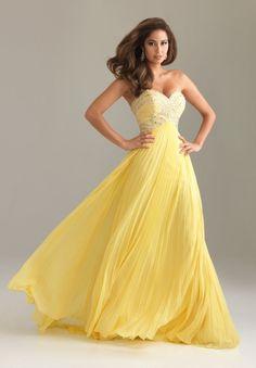 yellow homecoming dresses | WhiteAzalea Prom Dresses: Unique Yellow Long Prom Dresses in Chiffon