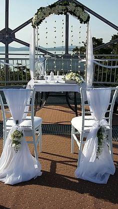 Gömbkilátó mint szertartás helyszíne.  Esküvői dekoráció.