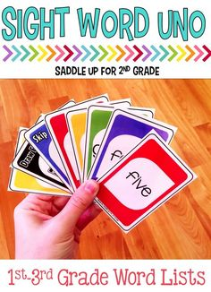 These Uno inspired games are to help reinforce sight words. Directions for the game are included as well as a reference sheet for the trick cards. This game works great for centers, word work or in small groups.