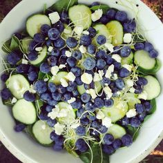 Recipe by Stephanie Lachney Ingredients 1 large handful fresh spinach 1 medium sized cucumber, sliced (Try Agrowtopia Cucumbers!) Sprouts 1/2 cup blueberries 1/2 inch piece …