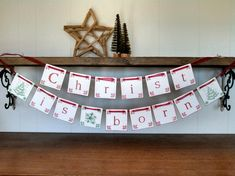Christ is Born Christmas Garland Banner Rustic Bunting by www.SweetThymes.com