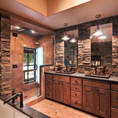 Rustic Master Bathroom rustic bathrooms | rustic bathroom | steam showers | pinterest