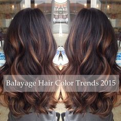 caramel brown balayage hair with lighlights 2015
