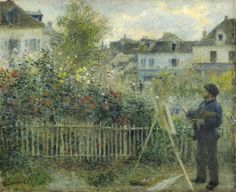 "Pierre-Auguste Renoir (1841-1919) - ""Claude Monet Painting in his Garden at Argenteuil"" - Oil on canvas - http://argus.wadsworthatheneum.org/Wadsworth_Atheneum_ArgusNet/Portal/public.aspx?lang=en-US"