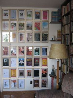 Pretty covers become wall art | 30 Totally Unique Ways To Decorate Your Home With Books