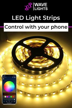 You dont have to get up on and off to switch then on and off but you can actually control the LED light with your phone. Ease of access right? Order now. Led Light Strips, Led Strip, Alexa Echo, App Control, Palm Of Your Hand, Cutting Tables, A Whole New World, Get The Party Started, Gaming Setup