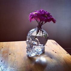 Turn a skull vodka bottle into a vase. This would be awesome in our bedroom Skull Decor, Skull Art, Skull Head, Skull Vodka Bottle, Flowers Today, Gothic House, Skull And Bones, Modern Retro, Sugar Skulls