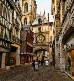 the gros horloge, rouen, france