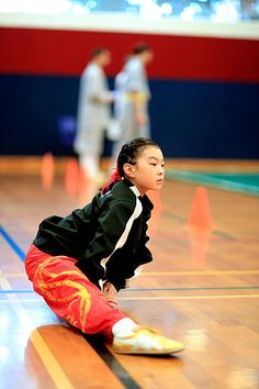 Warming up for the intense wushu competition. Anna is going to compete in fist (quan), straight sword (jianshu), and spear (qiangshu). Chinese Martial Arts, Kung Fu, Stretching, Sword, Competition, Anna, Lovers, Stretching Exercises, Swords