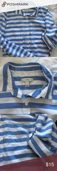 J. Crew Popover Bought  and I have never worn. Just been hanging in my closet. J. Crew Tops