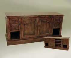 Organized TV Cabinet Western Cabinets and Buffets - Organize all your entertainment components in a beautiful, functional cabinet. This piece makes a stunning addition to any room. Warm wood finishes, drawers and open compartments for storage. Cabinet doors reveal additional shelves.