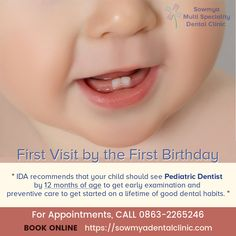 Paediatric Dentistry is a branch of dental science which deals with specialization in children's dental issues and oral problems. Sowmya Multi Speciality Dental Clinic has the best paediatric dentist in Guntur. Childrens Dentist, Kids Dentist, Dental Kids, Pediatric Dentist, Oral Health, Pediatrics, Dentistry, Appointments, Books Online
