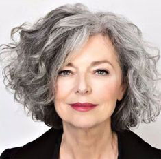 Salt and Pepper Hair Medium Length Wave Synthetic Lace Front Wigs 12 Inches - Grey curly hair - Hair Hairstyles Over 50, Bob Hairstyles, Short Haircuts, Hairstyles For Older Ladies, Short Womens Hairstyles, Short Natural Haircuts, Amazing Hairstyles, Modern Hairstyles, Wedding Hairstyles