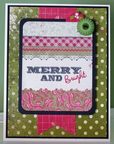 """Christmas in July - """"Merry and Bright"""" card by Janet Zeppa, Design Team member."""